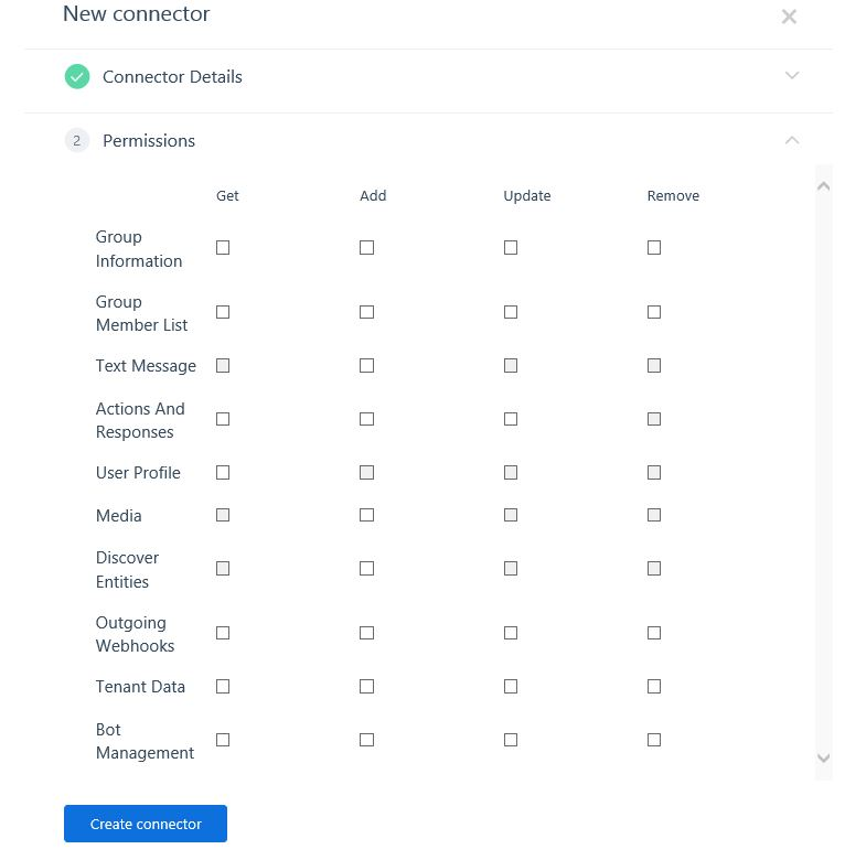 Kaizala MGMT Portal-Connector Permissions