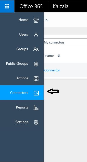 Kaizala MGMT Portal-Create Connector
