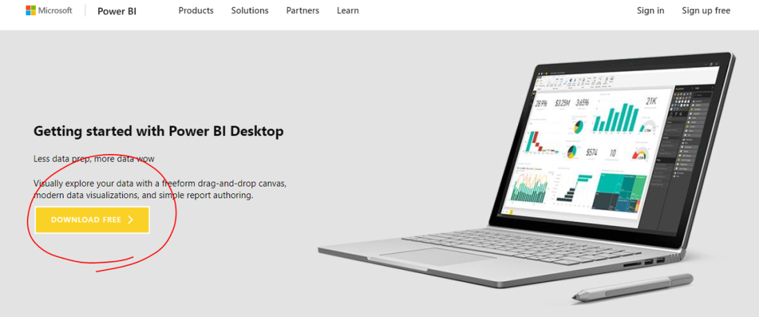 download PowerBI desktop