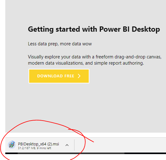 download PowerBI desktop1