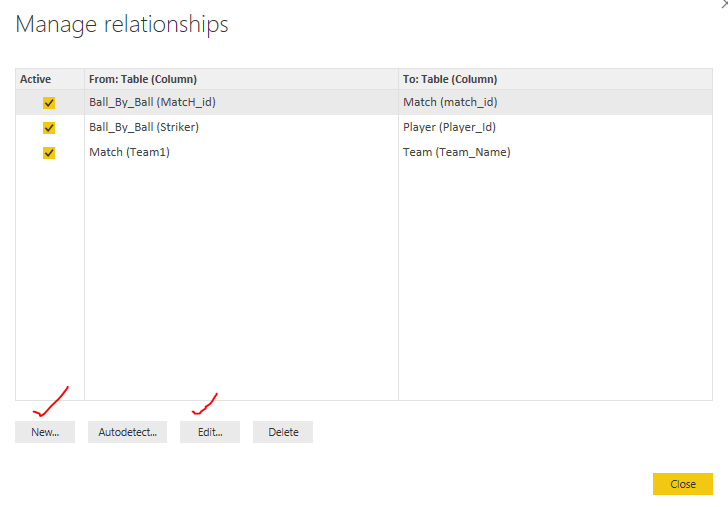 DataMOdeling Manage add relationships