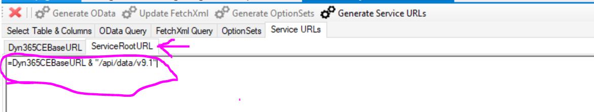 Generate Service URl2